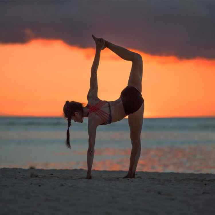 Yoga and the sunset